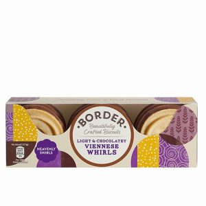 Border Light & Chocolatey Viennese Whirls :150g