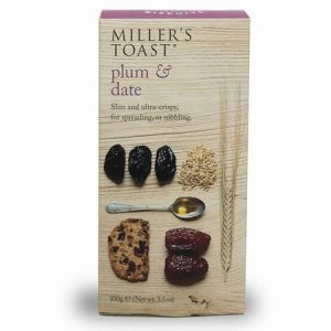 Millers Toast Plum & Date : 100g