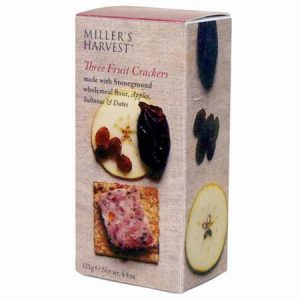 Millers Harvest Three Fruit Crackers : 125g