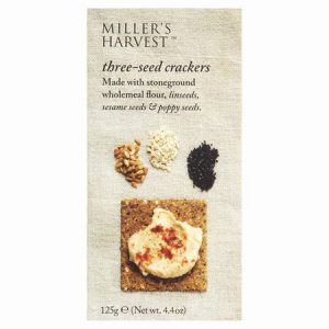 Millers Harvest Three Seed Crackers : 125g