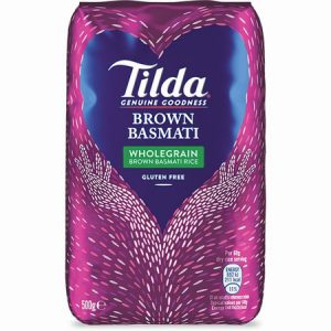 Tilda Wholegrain Basmati Rice: 500grm