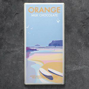 Orange Milk Chocolate : 100g
