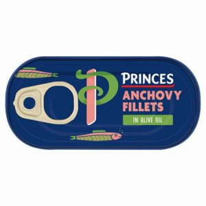 Princes Anchovy Fillets in Olive Oil : 50g