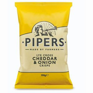Pipers Cheddar & Onion : 150g
