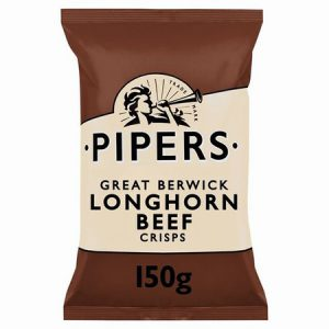 Pipers Longhorn Beef Crisps : 150g