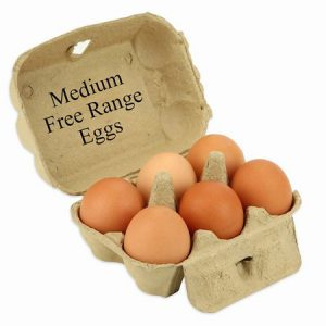 Medium Free Range Eggs (6)